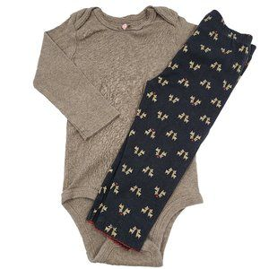🍒3/$20🍒 CARTERS Matching Cute Deer Outfit 12m